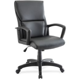 Bulk Lorell Euro Design Leather Exec. MiD-Back Chair