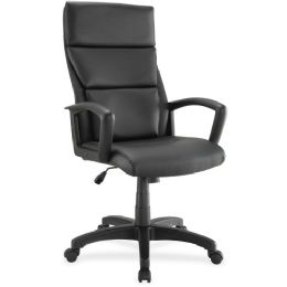Bulk Lorell Euro Design Lthr Executive HigH-Back Chair