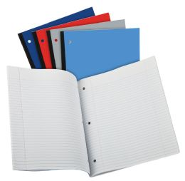 24 Bulk Tops Oxford Coiless Notebook, 11 X 9, 1 Subject, Assorted Covers, 80 Sheets, College Ruled