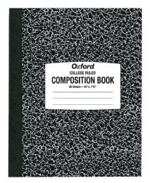 "48 Bulk Tops Oxford Composition Notebook, Green, 10"" X 7 7/8"", 80 Sheets, College Ruled"