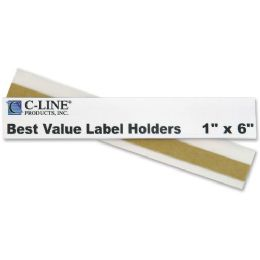 12 Bulk C-Line Value Peel And Stick Shelf/bin Label Holder