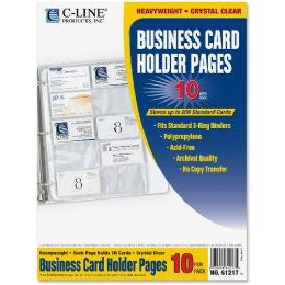 Bulk C-Line Business Card Refill Pages