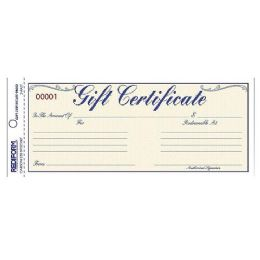 Bulk Rediform Gift Certificates With Envelopes