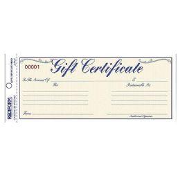 Bulk Rediform Gift Certificates With Envelopes