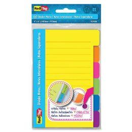 168 Bulk RedI-Tag 4x6 Sticky Ruled Divider Notes