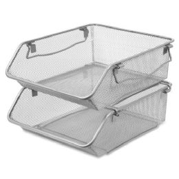 75 Bulk Lorell Mesh Stacking Storage Bin