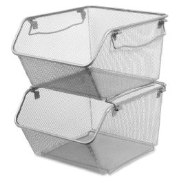 Bulk Lorell Mesh Stacking Storage Bin