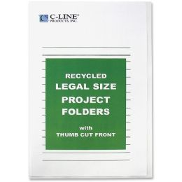 40 Bulk C-Line Recycled Project Folders, Clear - Reduced Glare, Legal, 14 X 8 1/2, 25/bx, 62129