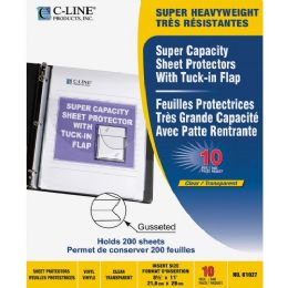 Bulk C-Line Super Capacity Sheet Protector With TucK-In Flap
