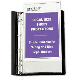 Bulk C-Line Top Loading Legal Sized Sheet Protector