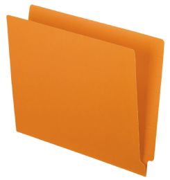 5 Bulk Color End Tab Folders, Orange