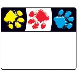 Bulk Trend Bright And Welcoming Paw Print Name Tags