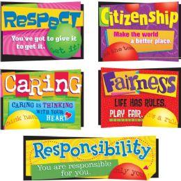 60 Bulk Trend Character Education Bulletin Board Set