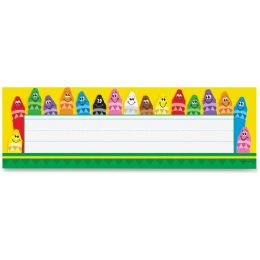 Bulk Trend Colorful Crayons Name Plates