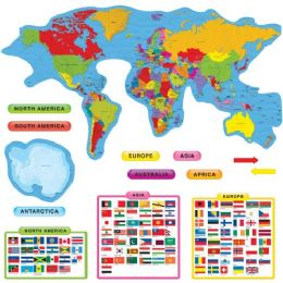 Bulk Trend Continents & Countries Bulletin Board Set