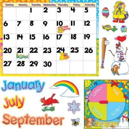 48 Bulk Trend Monthly Calendar Bulletin Board Set