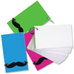 64 Bulk RedI-Tag Mustache Band Ruled Index Cards