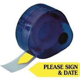 Bulk RedI-Tag Please Sign & Date Arrow Tag