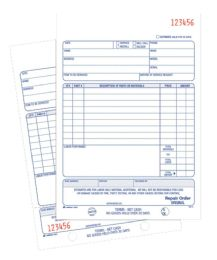 10 Bulk Repair Order Book, 2-Part, 50 Sh/bk