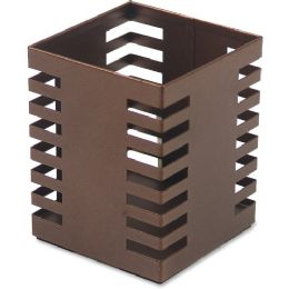 Bulk Lorell Stamped Metal Square Pencil Cup