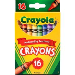 288 Bulk Crayola Regular Size Crayon Sets 16 Count Pack