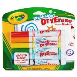 144 Bulk Crayola Crayola DrY-Erase Washable Broadline Markers