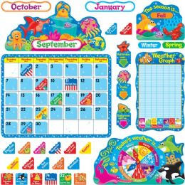 48 Bulk Trend Sea Buddies Calendar Bulletin Board Set