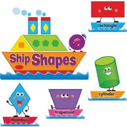 Bulk Trend Ship Shapes/colors Bulletin Board Set