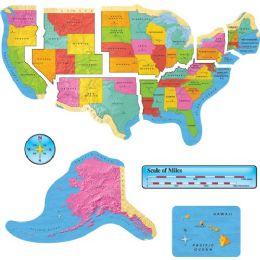 Bulk Trend Us Map Bulletin Board Set