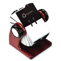20 Bulk Rolodex Wood Tones Rotary Business Card File