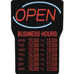 Bulk Royal Sovereign Led Open With Business Hours Sign English