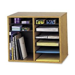 Bulk Safco Adjustable 12-Compt. Literature Organizer