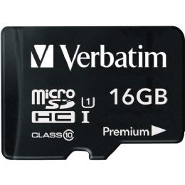 Bulk Verbatim 16gb Microsdhc Card (class 10) W Adapter