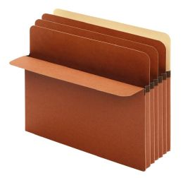 """5 Bulk Divider Pockets, 5.25"""" Expansion, 3 Dividers, Letter Size, 10/bx, 5/bx Per Rsc"""