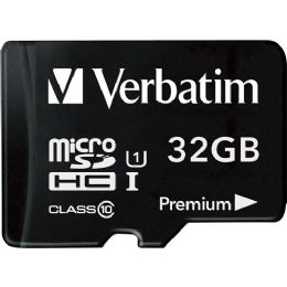 Bulk Verbatim 32gb Microsdhc Card (class 10) W Adapter