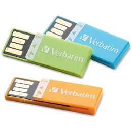 32 Bulk Verbatim 4gb CliP-It 97563 Flash Drive - 3 Pack