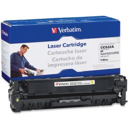 8 Bulk Verbatim Hp Cc532a Compatible Yellow Toner Cartridge