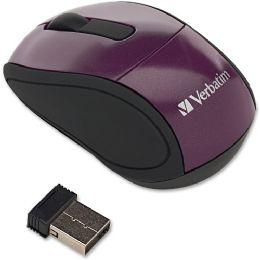 Bulk Verbatim Wireless Mini Travel Mouse Purple