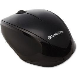 Bulk Verbatim Wireless MultI-Trac Blue Led Optical Mouse - Black