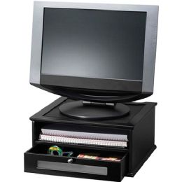 Bulk Victor Midnight Black 1175-5 Monitor Riser