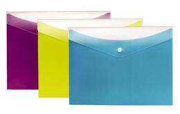 8 Bulk Dual Pocket Snap Envelope, 3pk