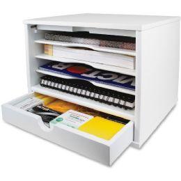 Bulk Victor Pure White Collection Wood Desktop Organizer