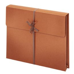 "50 Bulk Wallet Envelopes With Tie Closures, Letter Size, 2"" Expansion"