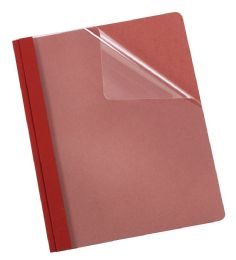 5 Bulk Earthwise By Oxford 100% Recycled Clear Front Report Covers, Letter Size, Red