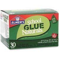 48 Bulk Elmer's School Glue Naturals 30 Pack 6g Glue Stick