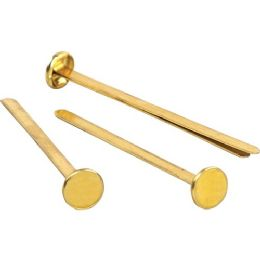 10 Bulk Acco Solid Brass Round Head Fasteners