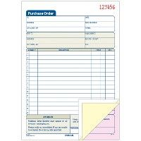 Bulk Adams 3-Part Carbonless Purchase Order Forms