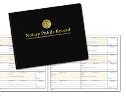 "6 Bulk Adams Notary Public Record Book, 6 Entries Per Page, 8-1/2"" X 11"""