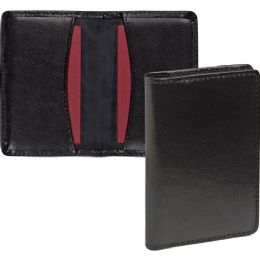 Bulk Samsill Carrying Case (wallet) For Business Card - Black