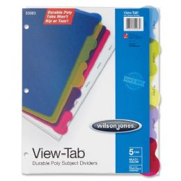 96 Bulk Wilson Jones VieW-Tab Poly Divider Without Pockets